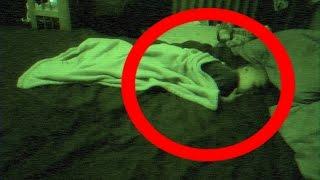 Ghost pulls blanket off baby!