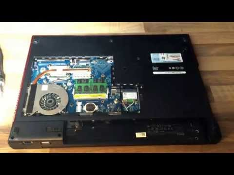 Dell Vostro 1720 disassembly disassemble clean Vent CPU repl