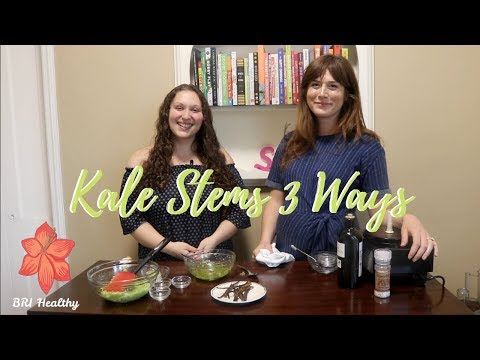 KALE STEMS 3 WAYS How To Reduce Food Waste with Sarah Saper #FoodWasteFriday
