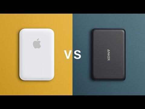 Apple Magsafe Battery Pack vs Anker Magnetic Wireless 5K