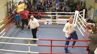 Borys Porębski Górnik Sosnowiec vs Łukasz Szczepaniak Fight  Boxing Dąbrowa Górnicza waga 75 kg