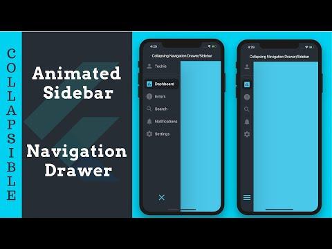 Collapsible Sidebar and Navigation Drawer : FlutterDev