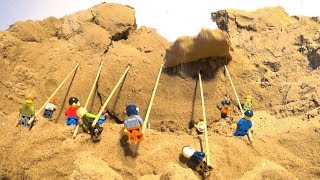 Epic Attempt Of The Lego Minifigures To Stop The Lego Dam Breach
