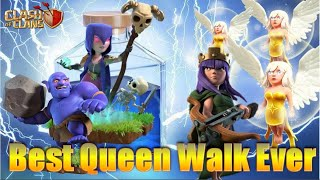 Epic max over powering queen walk army TH12 ( clash of clans)