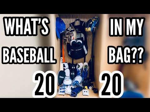 WHAT'S IN MY BASEBALL BAG 2020