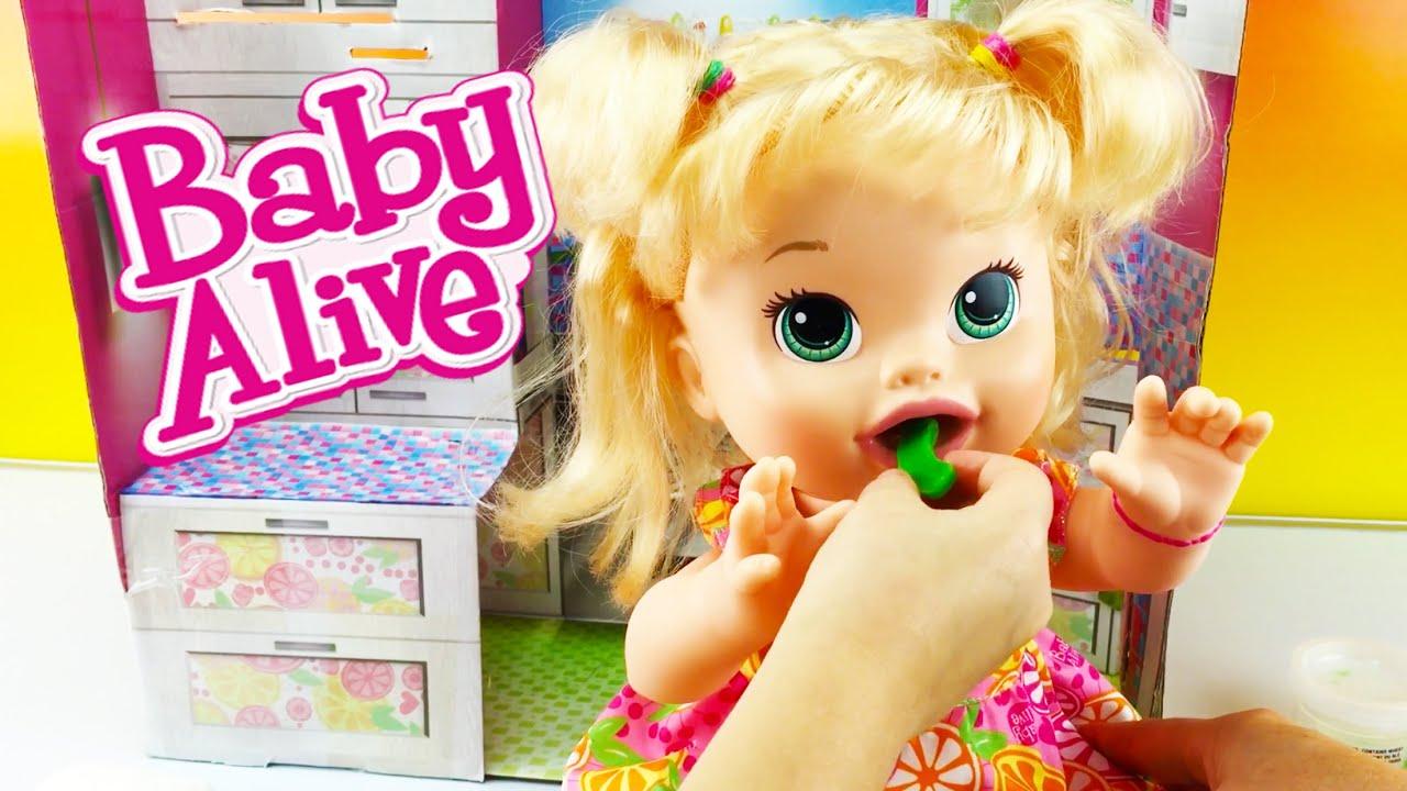 Baby Alive Baby Doll Super Snacks Snackin Sara Eats Play