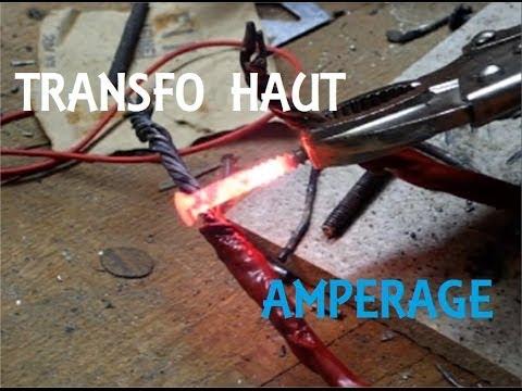 Transformateur haut amperage soudeur youtube - Fabriquer une guirlande electrique ...