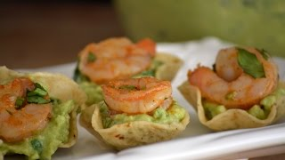 Shrimp & Guacamole Appetizer Recipe   How To Make Shrimp Appetizers   Sys