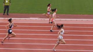 奥村ユリ 転倒 20150621関東高校陸上北関東女子200m予選3組 奥村ユリ 検索動画 10