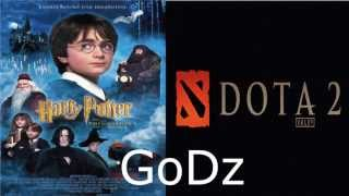 GoDz and Synderen reading Harry Potter and the sorcerer's stone