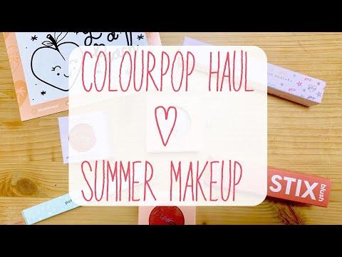 【Colourpop Haul&デモ】セールで買ったアイテムを使ってピーチメイク thumbnail