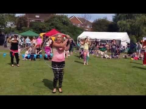Hulamaniacs debut hula hoop performance at Denton Community Challenge 2014
