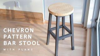 Chevron Pattern Bar Stool   With Plans