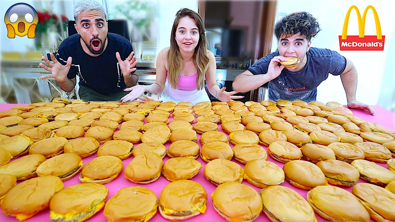 تحدي طلبت 1,000 برجر ماكدونالدز | حصل موقف مخيف ! 😱