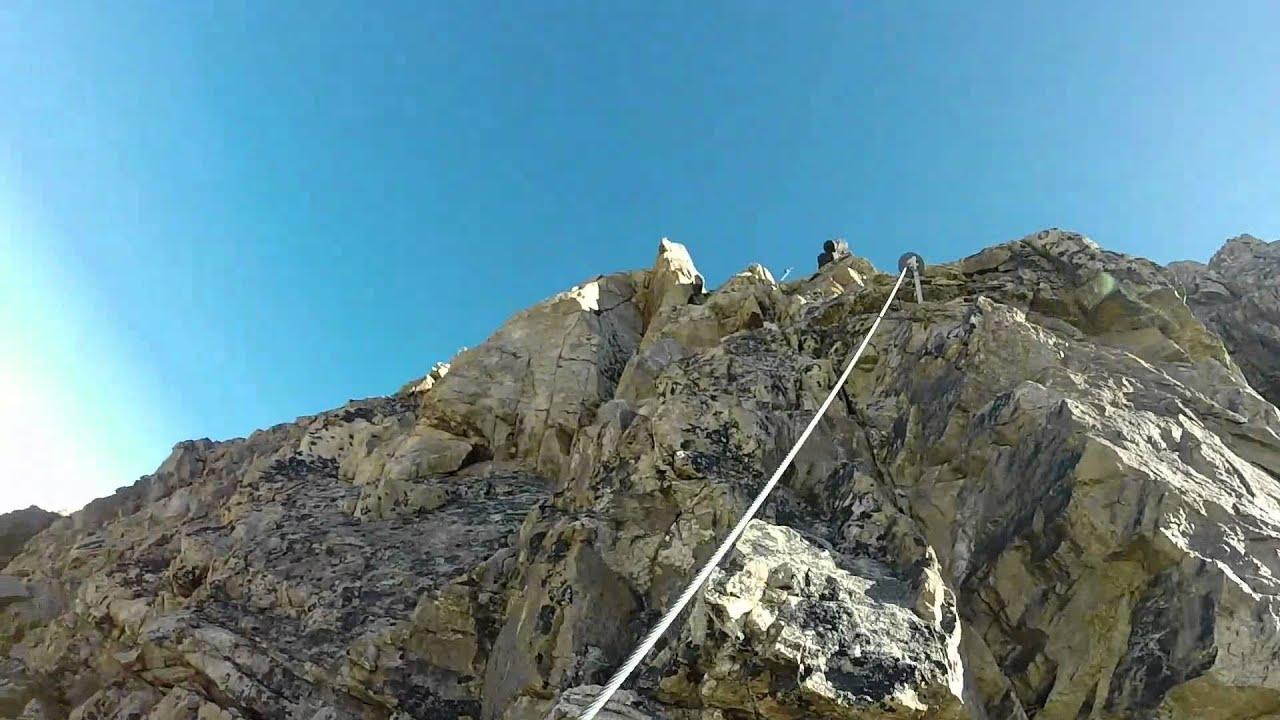 Klettersteig Piz Trovat : Piz trovat klettersteig youtube