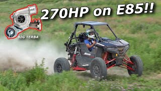 Our TURBO SWAPPED RZR RS1 gets an Evo Dynomite BIG TERBA! 270HP!