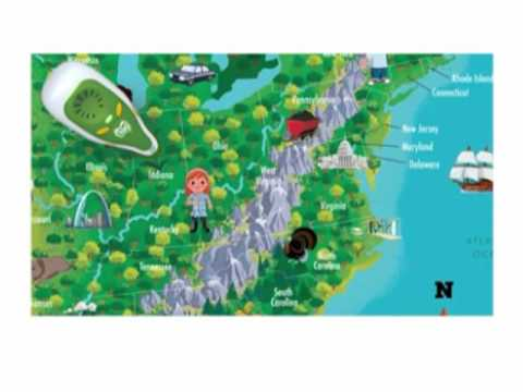 LeapFrog Tag Map Trailer - United States of America Map