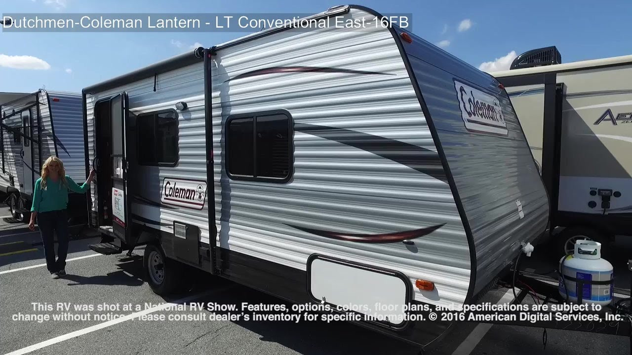 Rv Murphy Bed >> Dutchmen-Coleman Lantern - LT Conventional East-16FB - YouTube