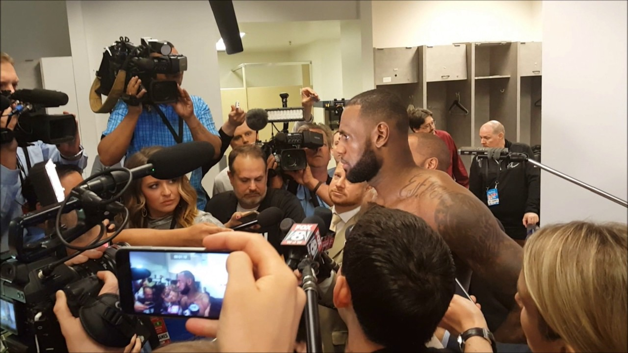 LeBron James Post game interview in the locker room Game 2 NBA Finals 2017 - YouTube
