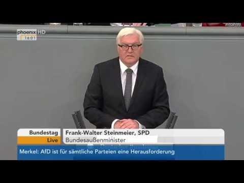 Haushalt 2017: Frank-Walter Steinmeier zum Haushalt des Auswärtigen Amts am 07.09.2016