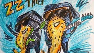 Рисунок Короля Воров в роли Рокеров ZZ Top / видео урок рисования для детей(Маленький скетч для разнообразия. Как рисовать героев из игр + немного фантазии. Рисунок Короля Воров в..., 2016-09-06T16:00:01.000Z)
