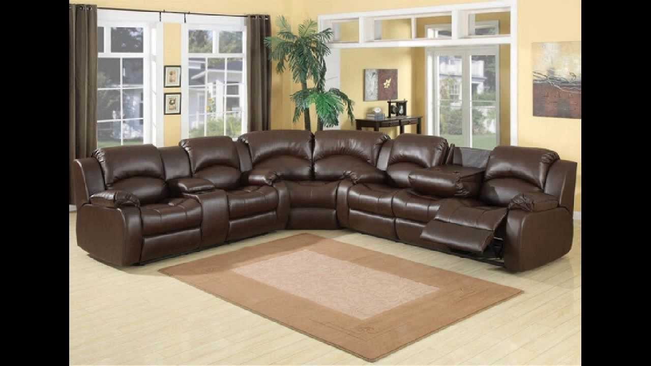Genial 3 Pc Samara Chocolate Bonded Leather Sectional Sofa With Recliners On The  Ends   YouTube