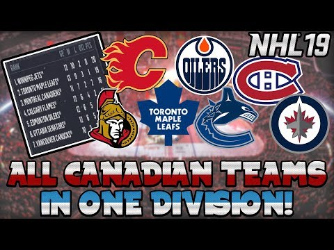 What If All Canadian Teams Were In ONE Division? (NHL 19 Challenge)