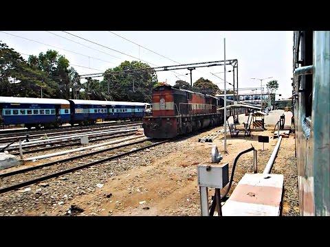 Netravati Express overtakes Hapa Tirunelveli and meets Mangala Express!