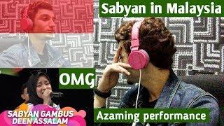 *REACTION* Sabyan Gambus Deen Assalam | Amazing performance in meletop(Malaysia) |Tya Ariffin/ Nabil