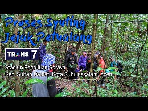 Proses Syuting Jejak petualang Trans7 di Stasiun Penelitian Soraya, Kota Subulussalam, Aceh