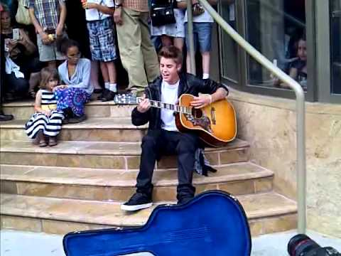 Justin Bieber Busking in Stratford - June 16th 2012 - Baby Baby