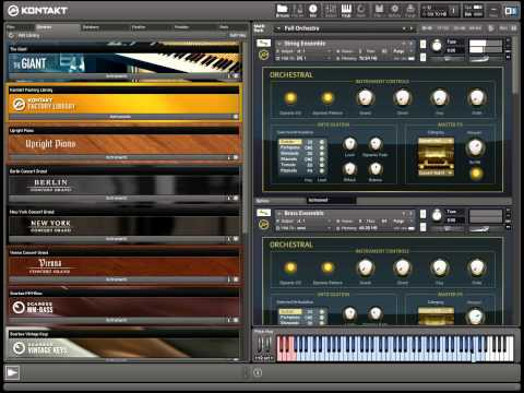 Orchestral Multi-Instrument Layering in Kontakt 5