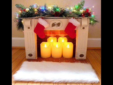 Diy faux fireplace from reused boxes youtube - How to put out a fireplace ...