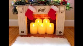 Diy Faux Fireplace From Reused Boxes