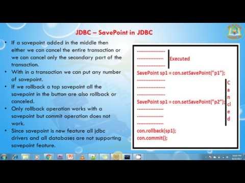 Lesson - 25 : JDBC -  SavePoint in JDBC