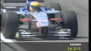 Luca Badoer (Minardi M01) qualifying run - 1999 San Marino Grand Prix