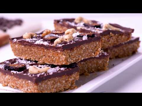 No Bake Chocolate Cashew Fig Bars {Vegan, Paleo}