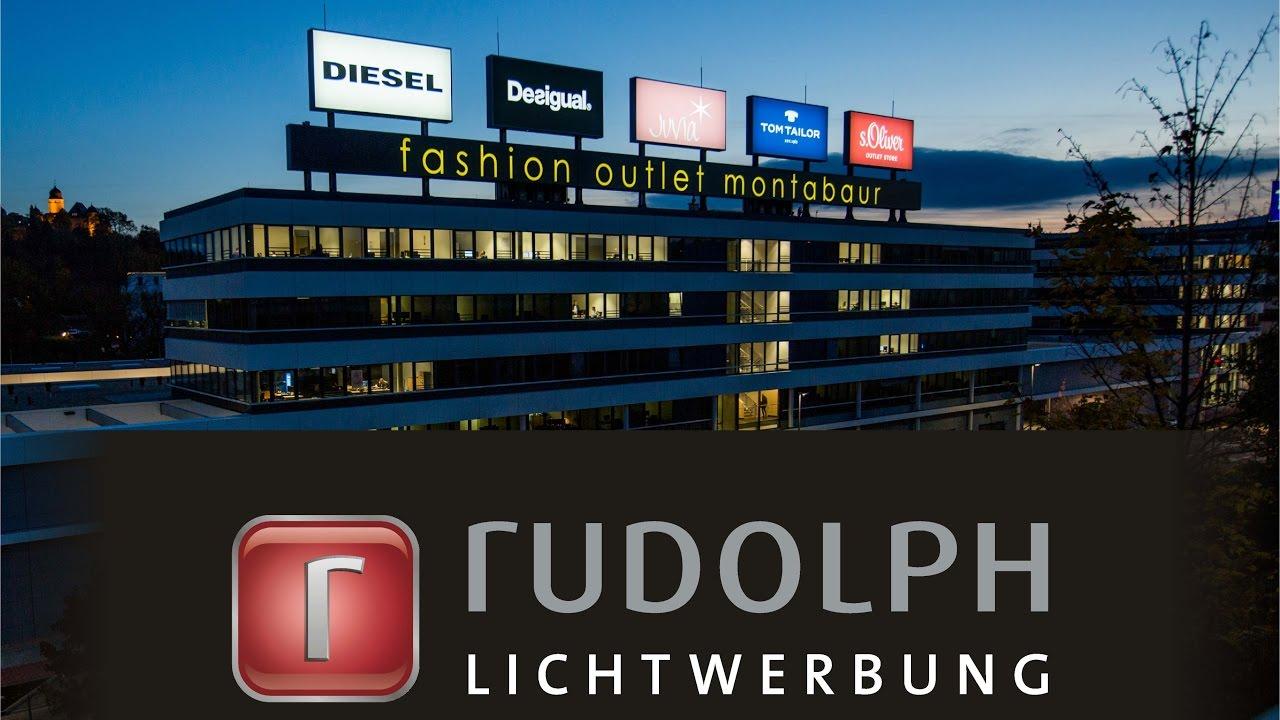 Rudolph Lichtwerbung - Fashion Outlet Montabaur - YouTube