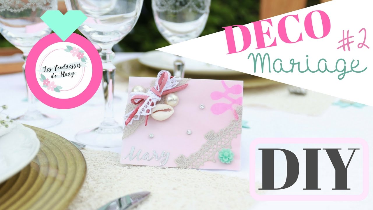 Diy Deco De Table Mariage Marque Place Theme Boheme Youtube
