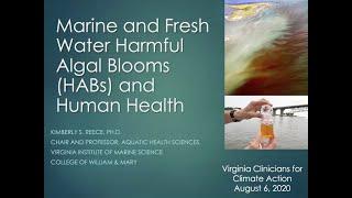 VCCA Webinar Series 2020.08.06 Harmful Algae Blooms - Dr Kimberly Reece