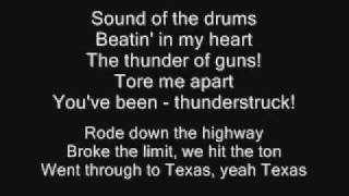 Repeat youtube video AC/DC - Thunderstruck Lyrics