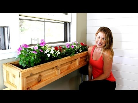 the 20 window planter box easy diy project youtube. Black Bedroom Furniture Sets. Home Design Ideas