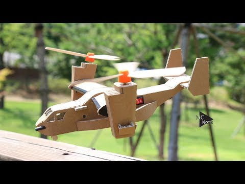 How To Make Toy Helicopter(V-22 Osprey) - Awesome Cardboard DIY