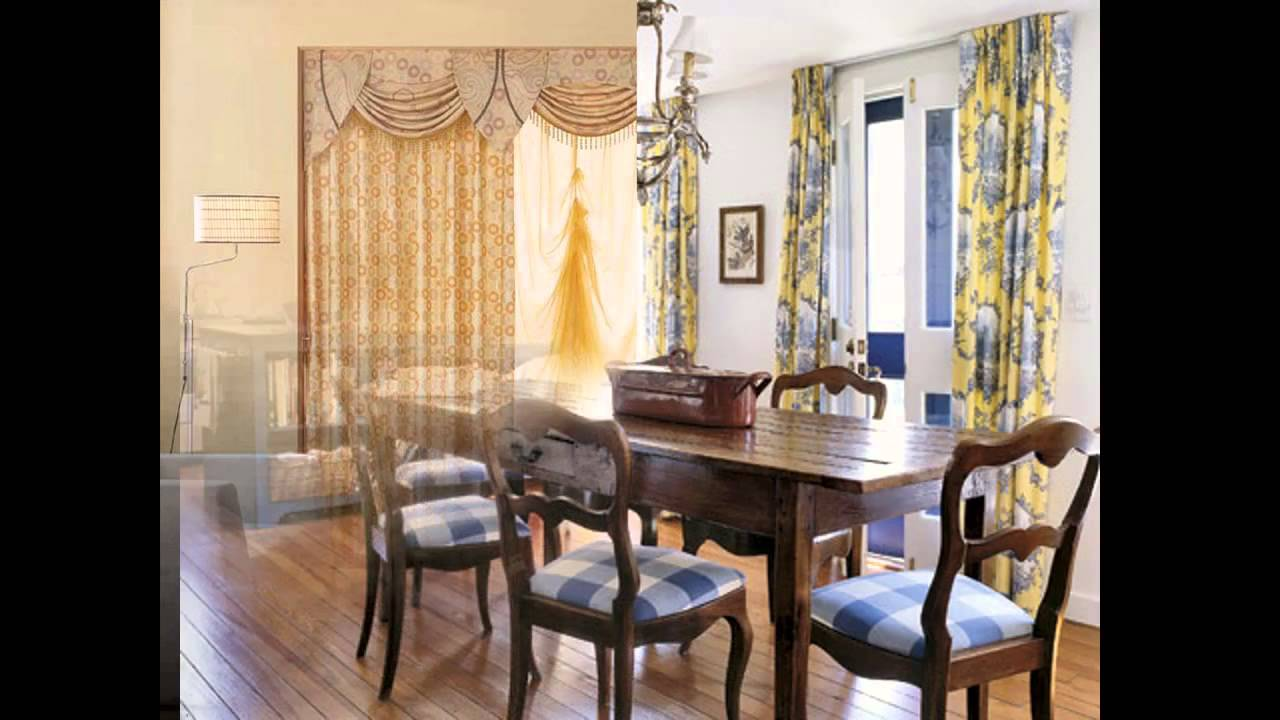 Simple Dining Room Curtains Decorating Ideas