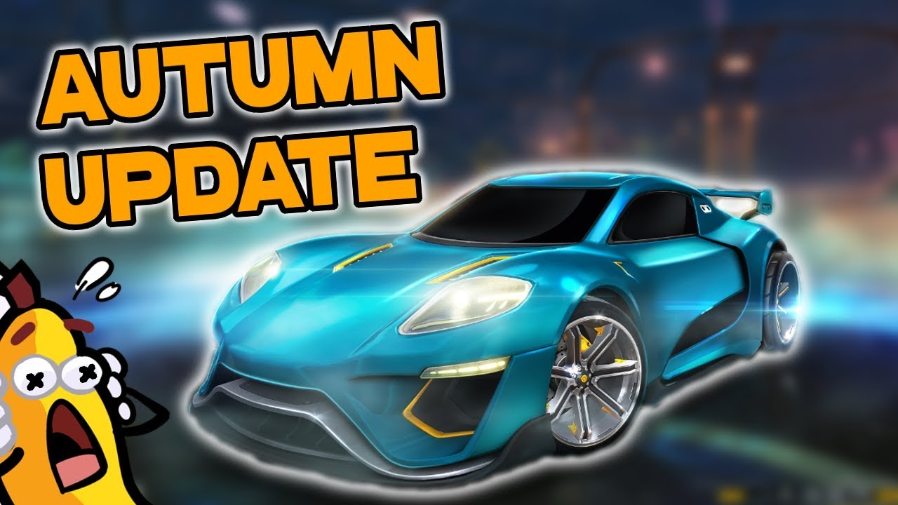 rocket league autumn update new crate car more youtube
