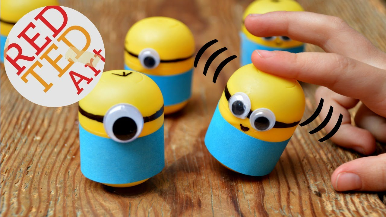Minion Crafts Make Wobbly Minion Weebles from Plastic Eggs ...