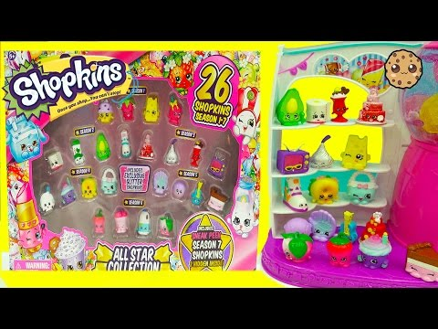 Shopkins Season 7, 6 , 5 , 4 , 3 , 2 , 1 All Star Collection Pack - Blind Bags + Glitter Exclusives