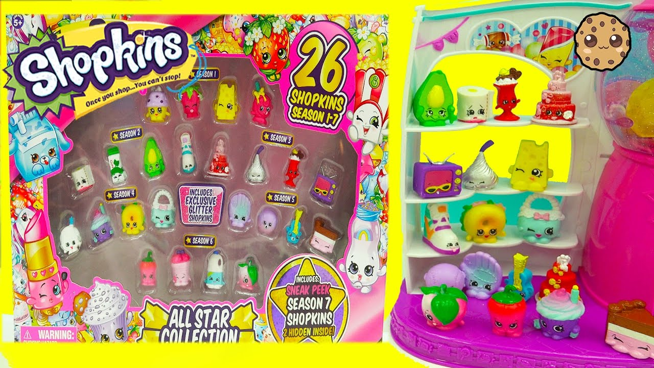 Shopkins Season 7 6 5 4 3 2 1 All Star Collection Pack