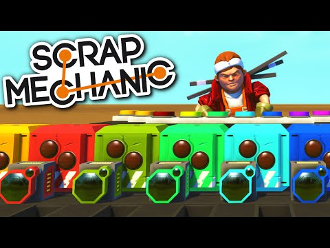 Scrap Mechanic CREATIONS - MUSICAL HEADS! PIANO, DRUM LOOP and All Sorts! - Scrap Mechanic Gameplay
