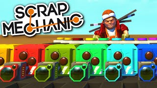Scrap Mechanic CREATIONS - MUSICAL HEADS! PIANO, DRUM LOOP and All Sorts! - Scrap Mechanic Gameplay